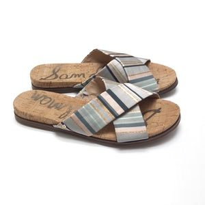 Sam Edelman striped slide sandals
